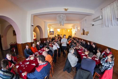 Zajednički ručak u sali, veljača 2012. (foto: Stjepan Tafra)