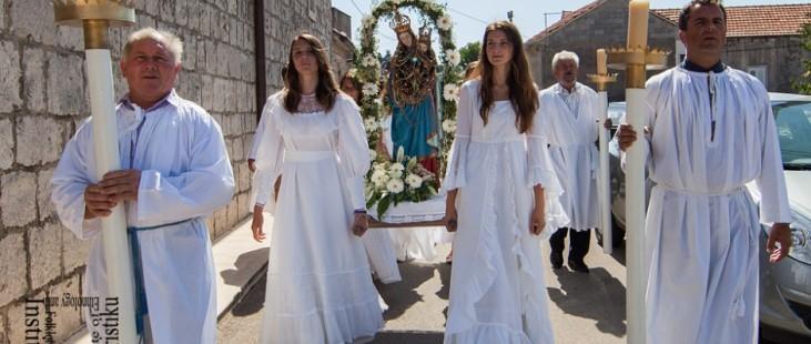 Pupnat, procesija, Gospa od sniga, kolovoz 2013. (foto: Stjepan Tafra)