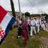 Dolazak povorke bijelih maškara, Putnikovići, ožujak 2014. (foto: <em>Stjepan Tafra</em>)